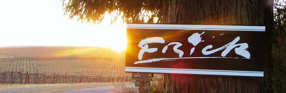 In dieser wunderschönen Umgebung wachsen die Trauben für den Frick Wine!